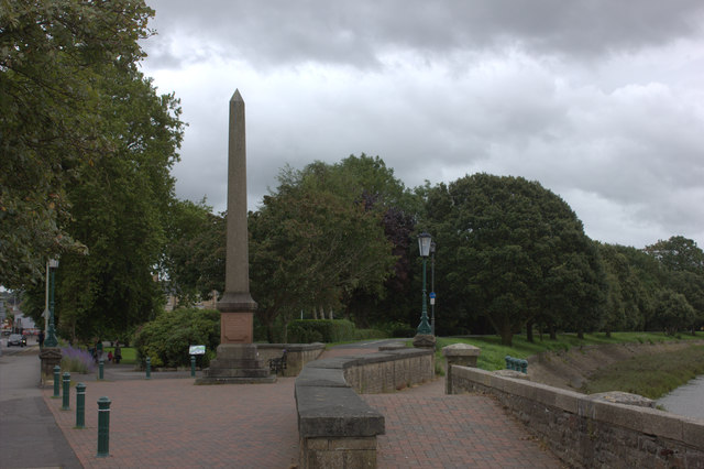 Rock Park obelisk, Barnstaple