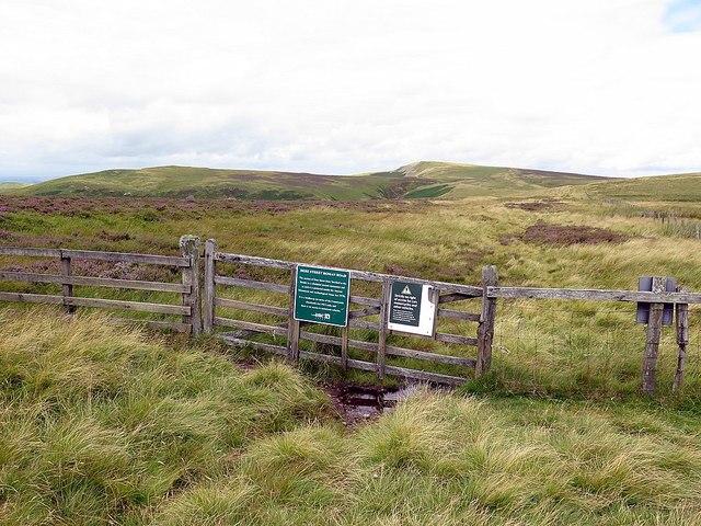 Dere Street crossing the Scottish Border at Black Halls