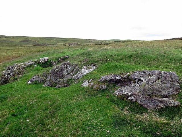 Rocky outcrop on Wedder Hill
