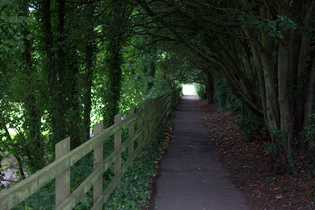 Foot and cycle path along the old railway