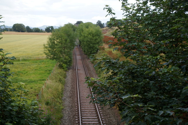 Railway line at Wester Lovat