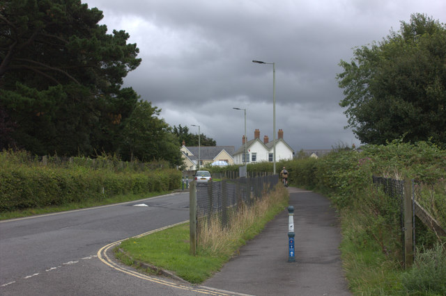 Road and cycle way near Park Community School