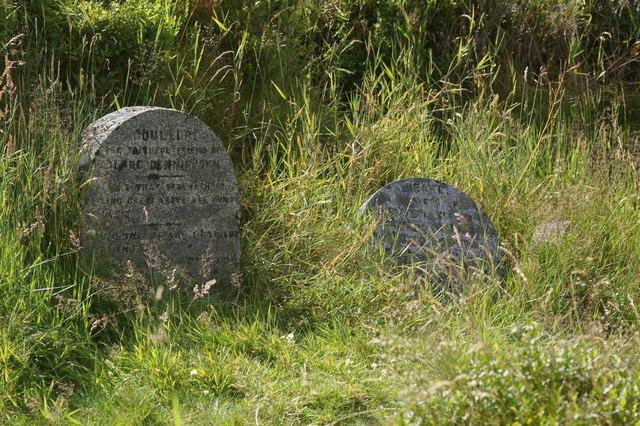 Isolated gravestones near Glenmore Lodge