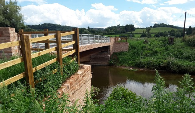 The new Eastham Bridge, East of Tenbury Wells, Worcestershire
