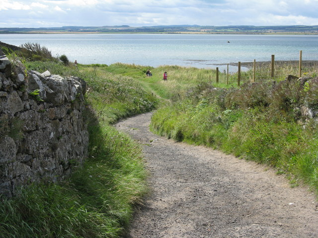 Path to St Cuthbert's Isle