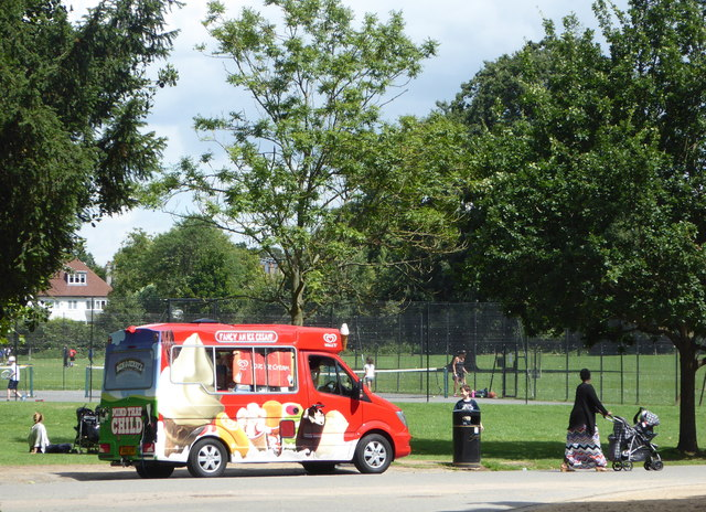 Ice cream van, Dulwich Park