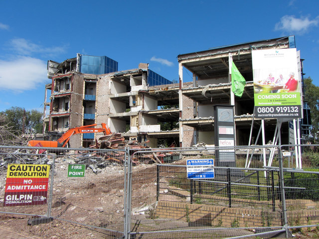 Demolition of The Orchards at Llanishen