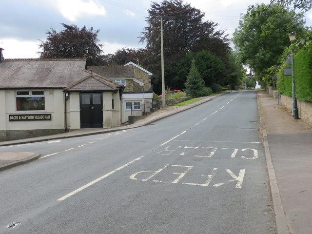 Road (B6451) passing through Dacre Banks