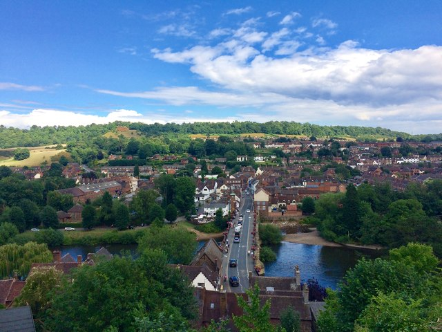 View over Low Town, Bridgnorth