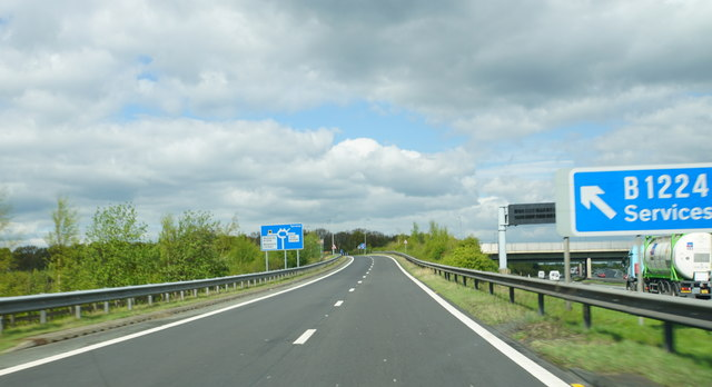 Sliproad at Junction 46 of the A1(M)