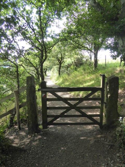 Gate on path from Castle Drogo to Fingle Bridge