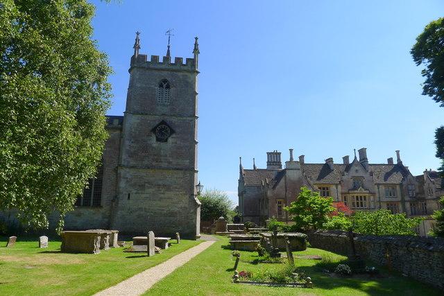 Church of St Kenelm and Alderley House, Alderley