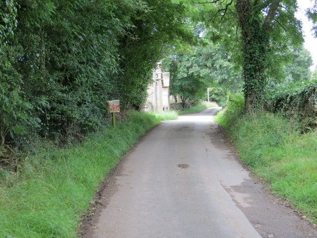 Lane near Park House at Wathermarske