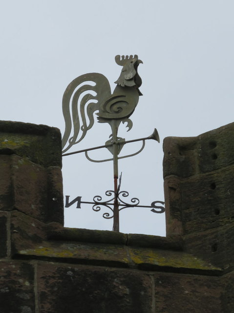 Weather cock on St Mary's tower, Hale Village