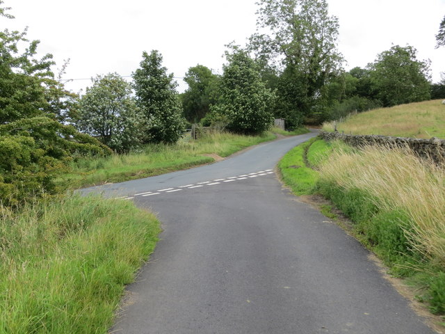 Junction of lanes at Ilton