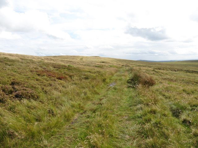 Moorland track to Cheeks Hill