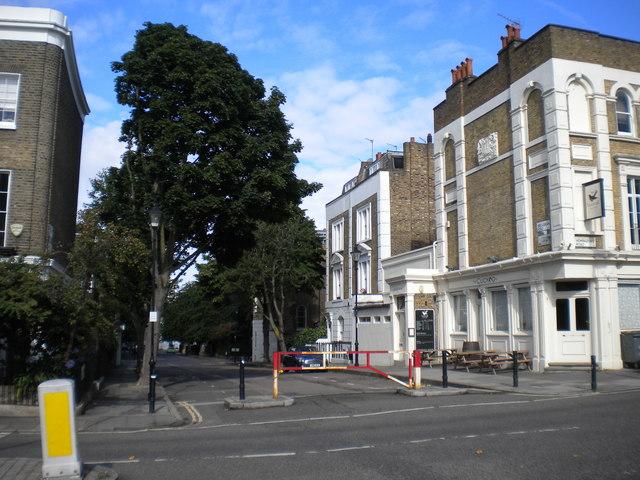 East end of Bridgeman Road, Barnsbury