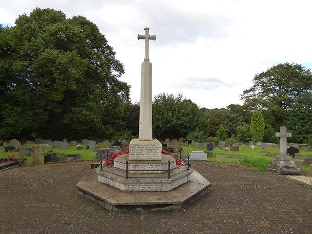 Birstall parish churchyard (4) - war memorial