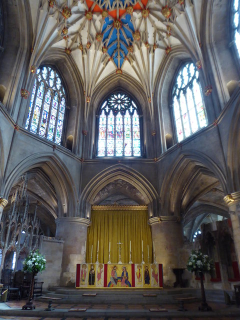 The altar in Tewkesbury Abbey