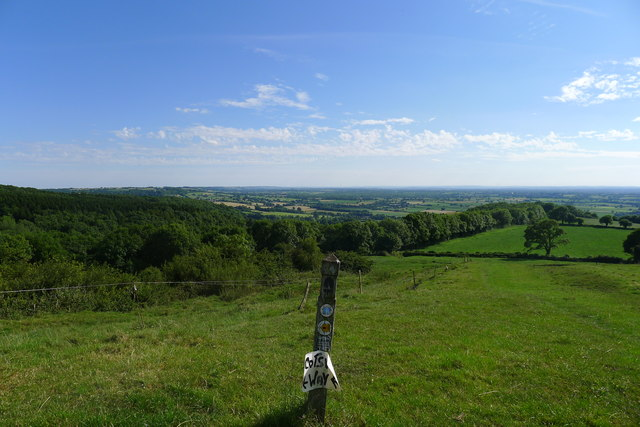 On top of the Wortley Hill escarpment