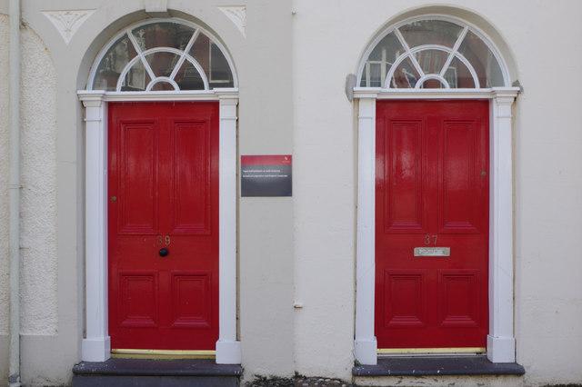 Red doors - College Road, Bangor