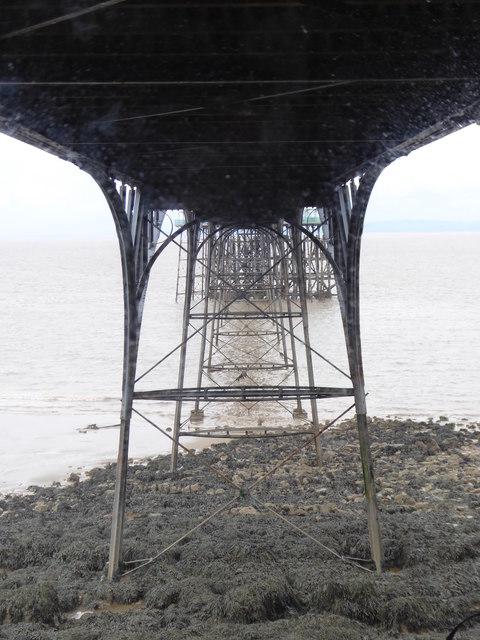 Beneath Clevedon Pier
