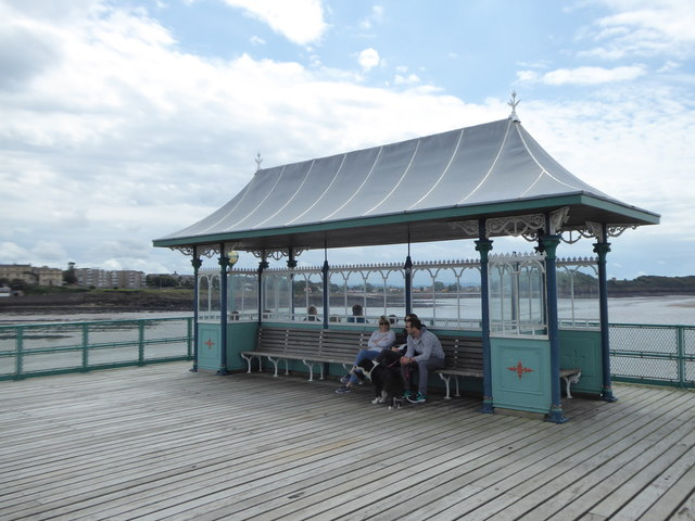 Shelter on the south west end of Clevedon Pier