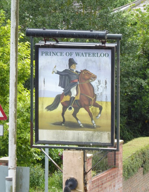 Pub sign: The Prince of Waterloo, Minster-in-Sheppey