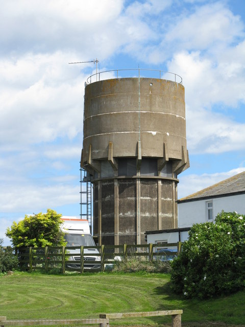 Holy Island water tower