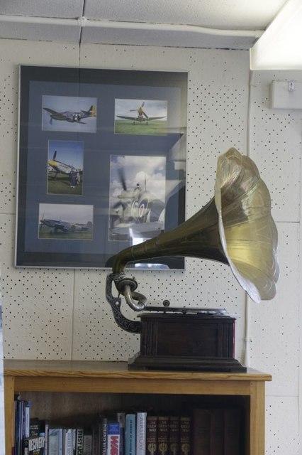 Gramophone on the shelf