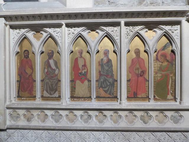 St Luke Milland: reredos (a)