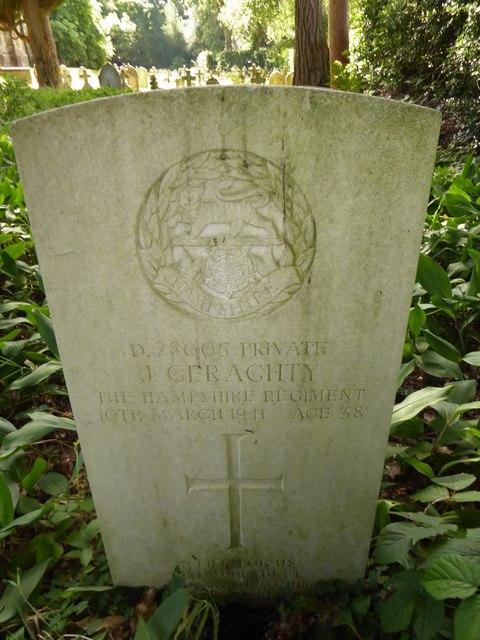 St Luke Milland: CWGC grave (a)