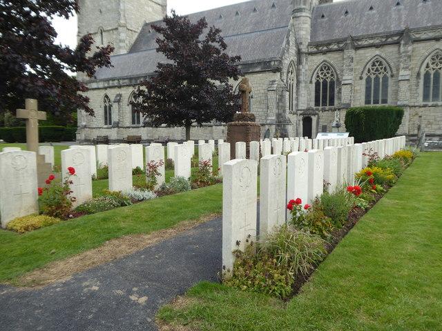 War graves at St Margaret's Church Bodelwyddan