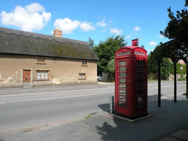 K6 phone box in Willingham High Street