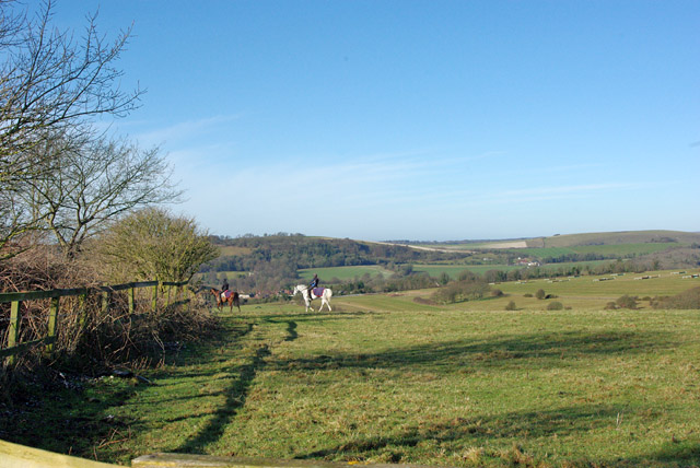 Riding on the downs above Findon