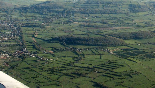 Banwell Plain from the air