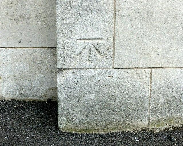 Bench mark, former Post Office, Ilkeston