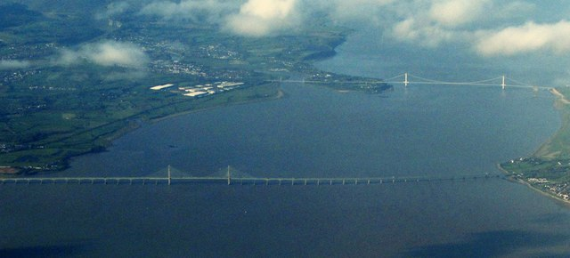 Severn crossings from the air