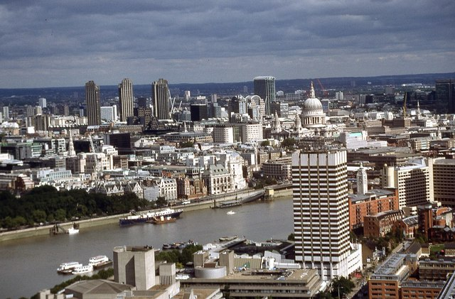 View to the City of London