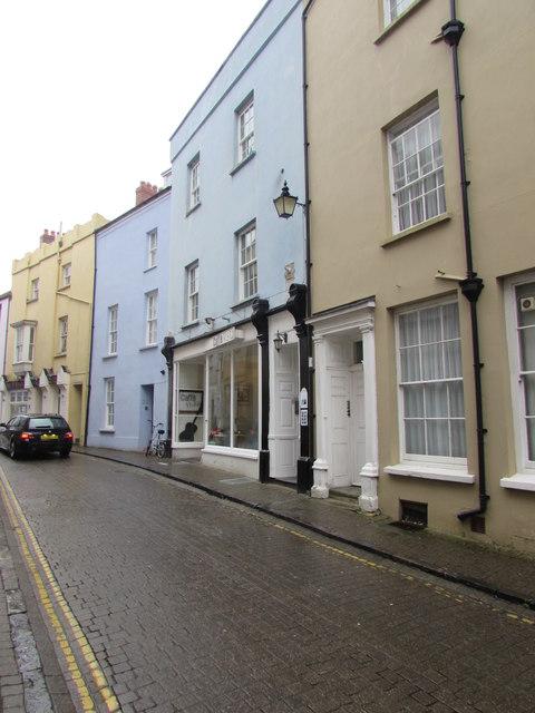 Crackwell Street towards High Street, Tenby