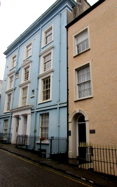 Grade II listed four-storey houses, Crackwell Street, Tenby