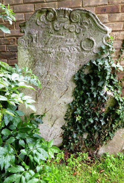 Minster Abbey: 18th-century headstone, dated 1732