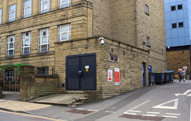 Electricity substation in Bradford University building, Carlton Street