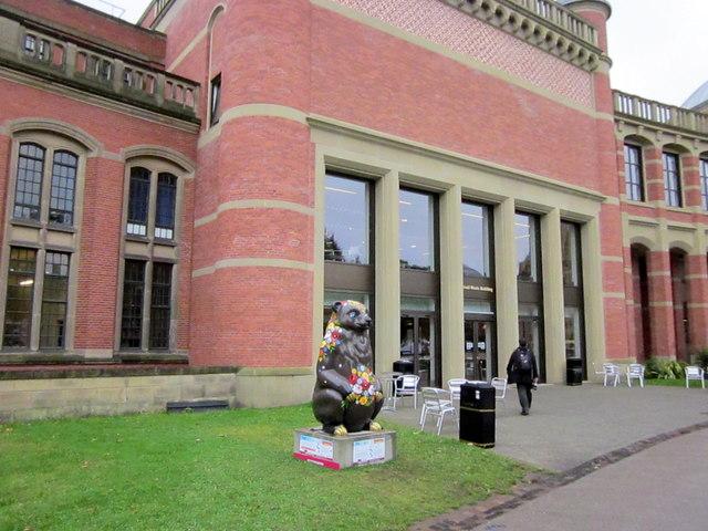 University of Birmingham Bramall Music Building With Rosie Bear