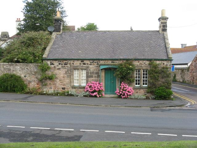 Cottage with hydrangeas