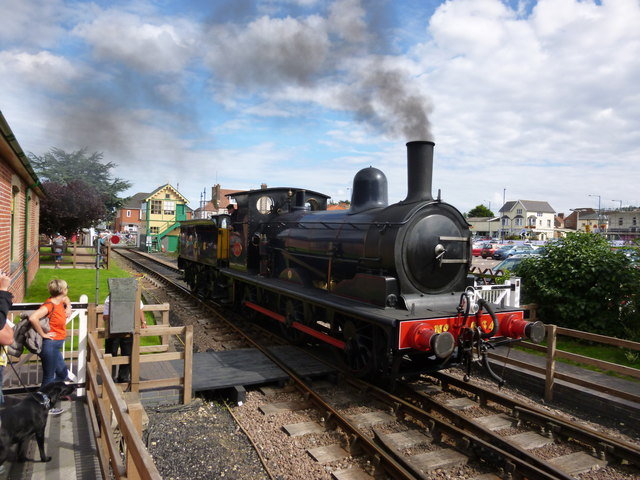 Steam locomotive in Sheringham Station