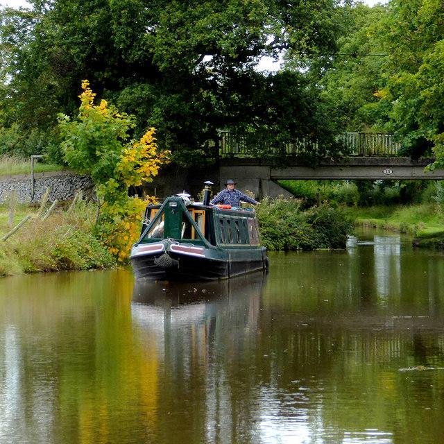 Narrowboat near Wrenbury Heath in Cheshire