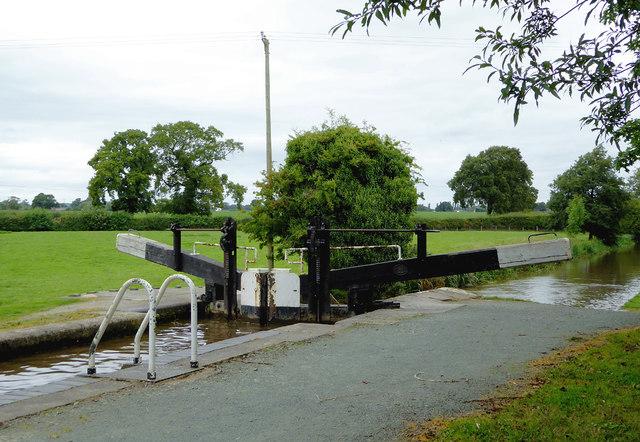 Baddiley No 1 Lock near Wrenbury Heath, Cheshire