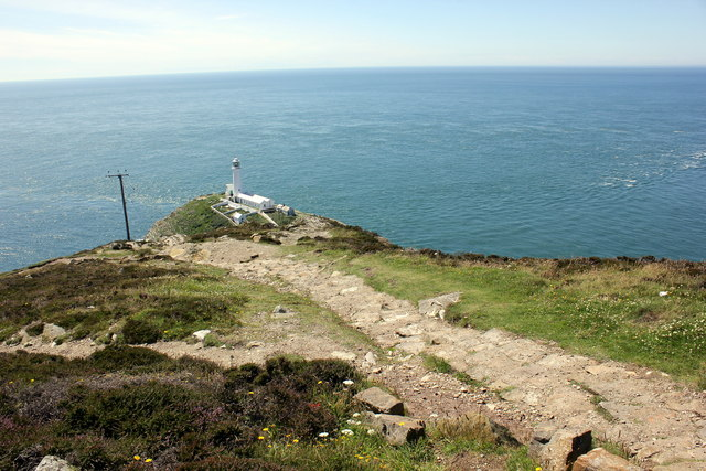 The Anglesey Coastal Path approaching South Stack
