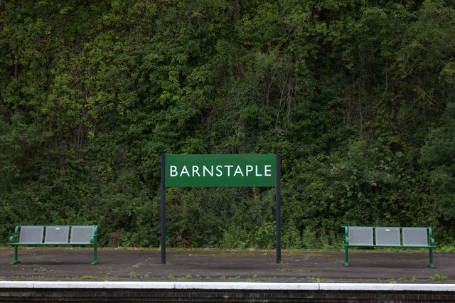 Barnstaple station sign